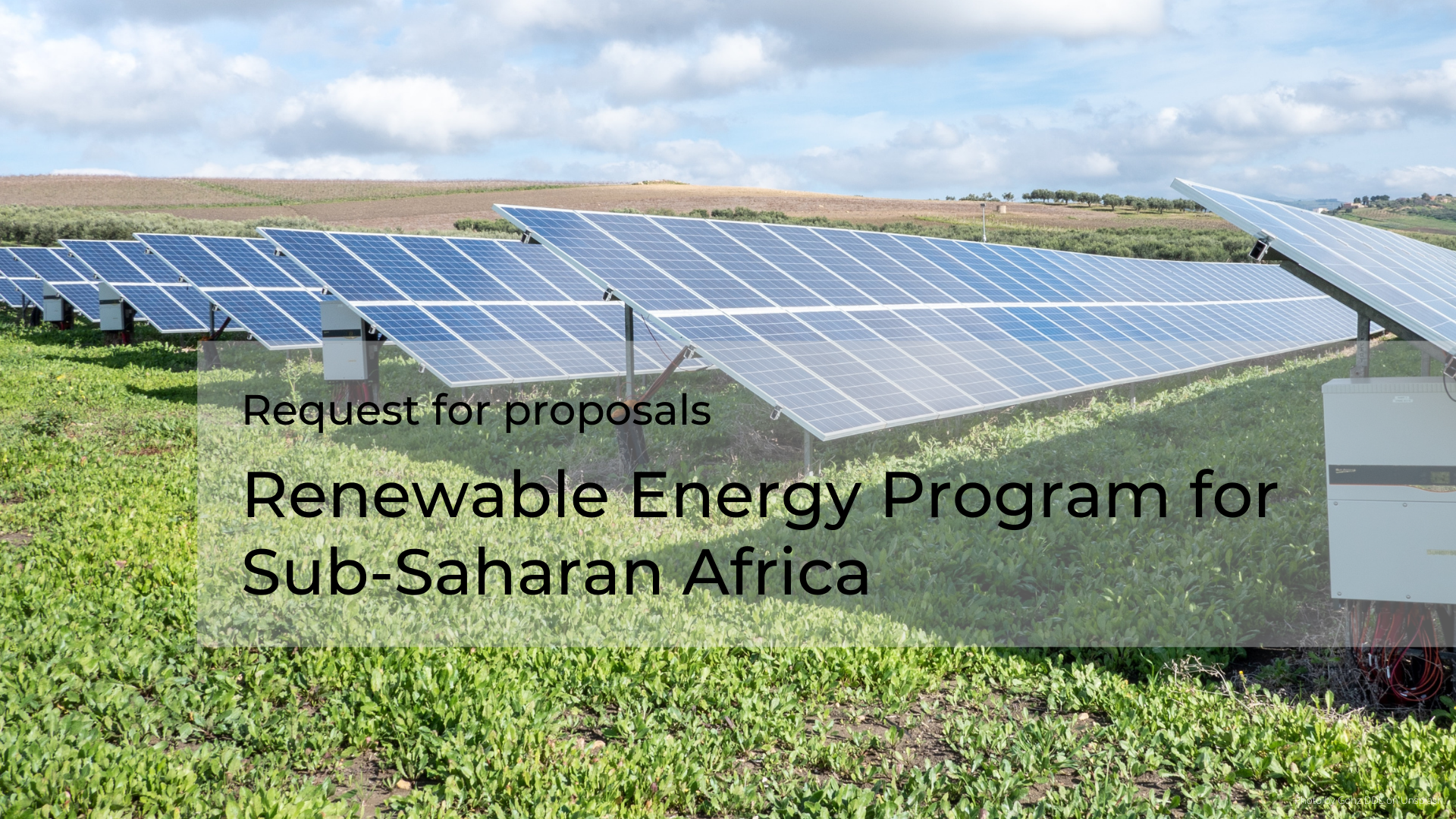 Image of the RFP - Renewable Energy Program for Sub-Saharan Africa